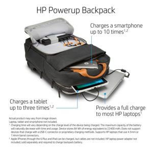 HP 17-inch Laptop Canvas Battery Charging Backpack