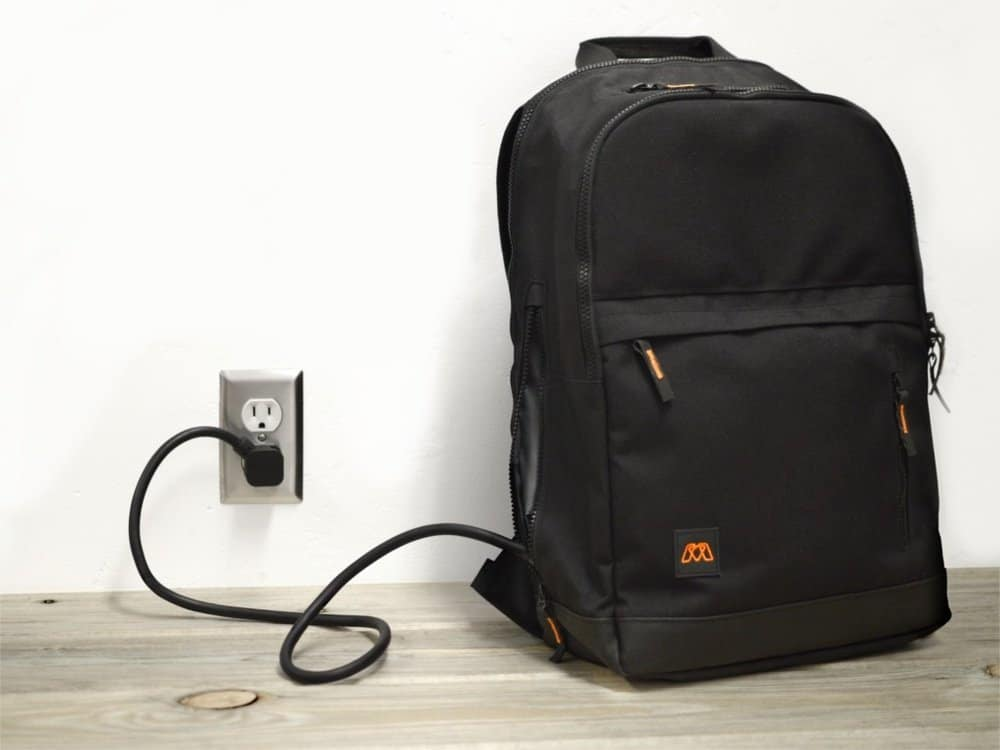 MOS Pack, The Backpack You Plug In to Charge Everything, Onyx,, laptop, tablet, and phone pockets with cable management