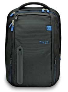 TYLT Powerbag Travel Battery Charging Backpack Laptop Computer Bag Power Bank - USB Charger for Phones and Tablets