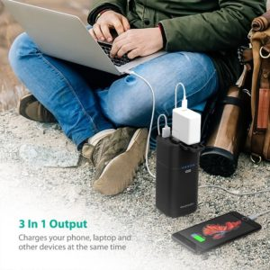AC Outlet Portable laptop Charger RAVPower 20100mAh 65W(Max.) Built in 2-Prong AC Plug External Battery Pack