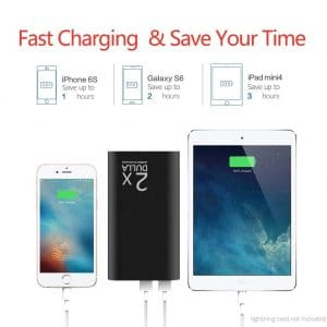 DULLA M50000 Portable Power Bank 12000mAh External Battery